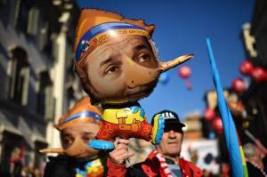 Renzi visto dai sindacati (GABRIEL BOUYS/AFP/Getty Images)