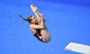 Tania Cagnotto (Photo credit should read TOBIAS SCHWARZ/AFP/Getty Images)