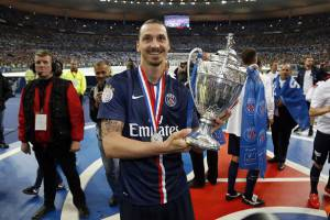 Zlatan Ibrahimovic  (Photo credit should read THOMAS SAMSON/AFP/Getty Images)