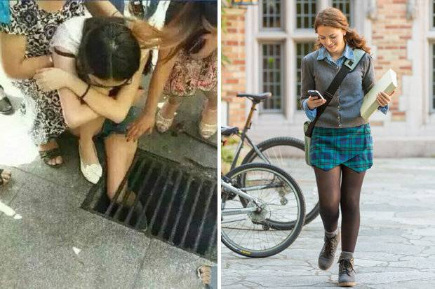 Distratta dallo smartphone ragazza cade in una grata: sfiorata tragedia – FOTO