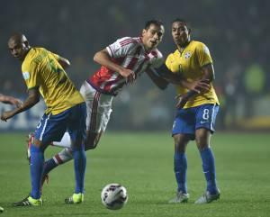 Brasile Paraguay       (Photo credit should read YURI CORTEZ/AFP/Getty Images)