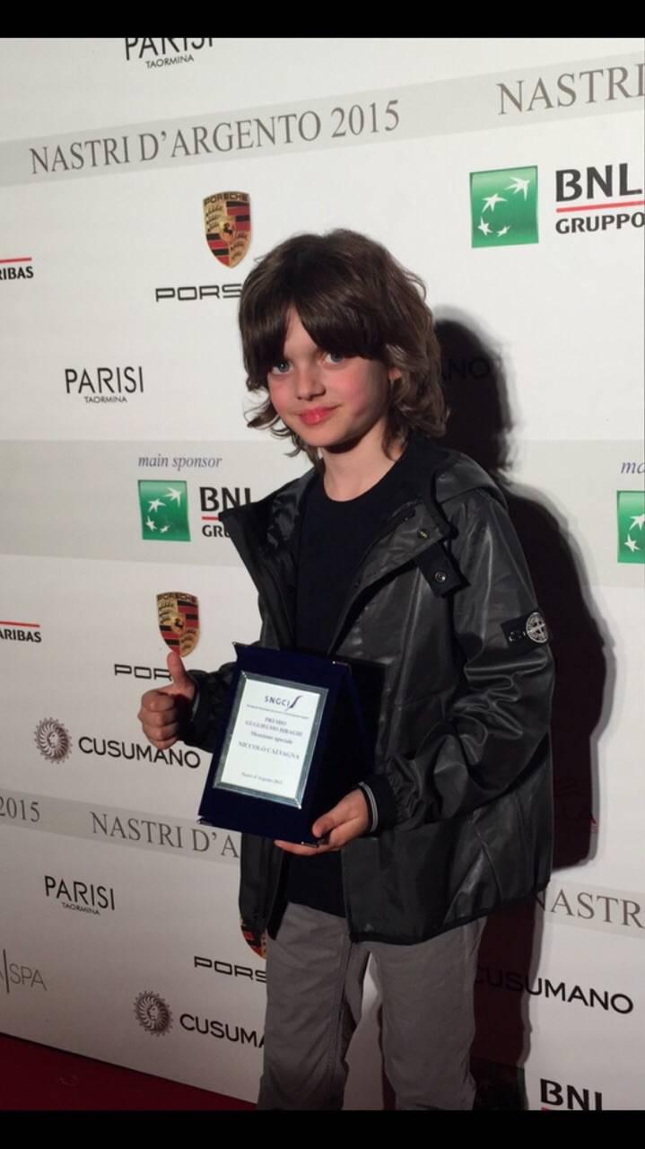 """""""Premio Biraghi"""" al piccolo Niccolò Calvagna"""