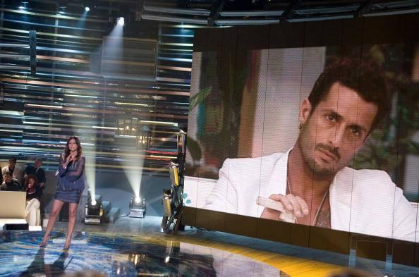 Fabrizio Corona in una trasmission tv (Elisabetta Villa/Getty Images)