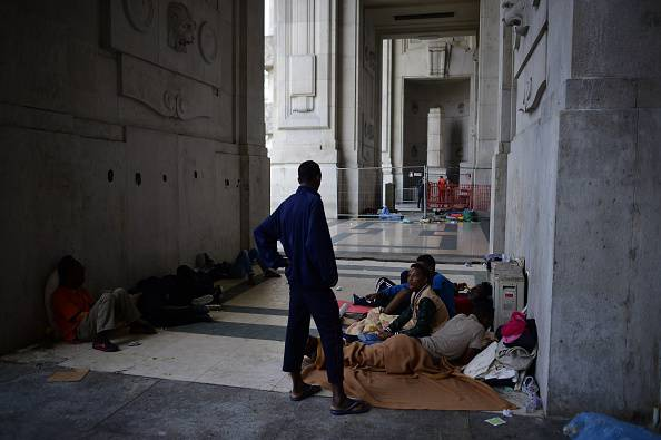 Migranti in Stazione Centrale (OLIVIER MORIN/AFP/Getty Images)