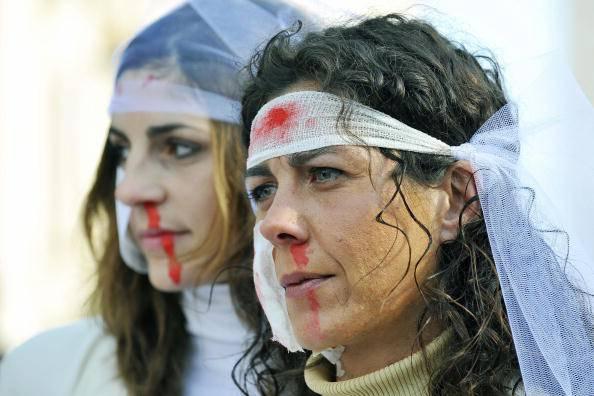 Proteste contro la violenza sulle donne (ANDREAS SOLARO/AFP/Getty Images)
