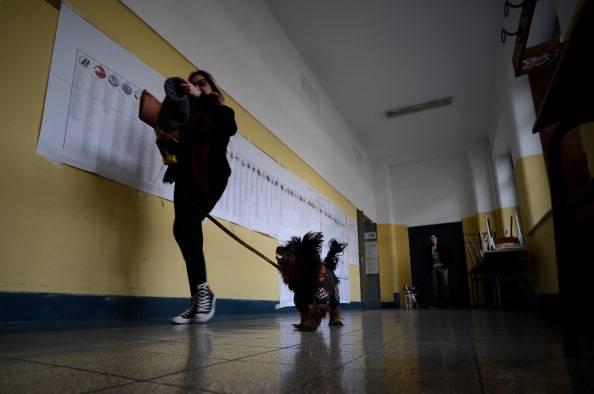 Seggio elettorale (FILIPPO MONTEFORTE/AFP/Getty Images)