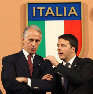 Giovanni Malago e Matteo Renzi  (Getty Images)