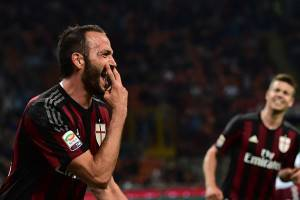 Giampaolo Pazzini  (Photo credit should read GIUSEPPE CACACE/AFP/Getty Images)