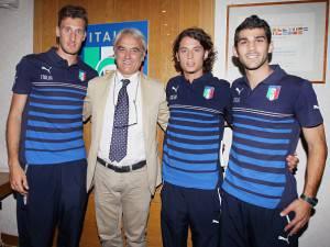 L'Italia delle Universiadi, con il tecnico Massimo Piscedda (getty images)