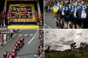 BMC Racing cycling team  (Photo credit should read LIONEL BONAVENTURE,JEFF PACHOUD/AFP/Getty Images)