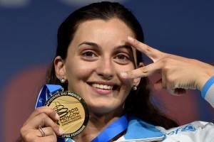 Rossella Fiamingo    (Photo credit should read KIRILL KUDRYAVTSEV/AFP/Getty Images)