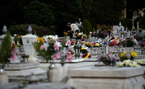 Cimitero (FILIPPO MONTEFORTE/AFP/Getty Images)