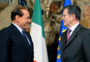 Berlusconi e Prodi (ALBERTO PIZZOLI/AFP/Getty Images)