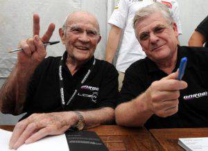 Guy Ligier, sulla sinistra (Photo credit should read JEAN-FRANCOIS MONIER/AFP/Getty Images)