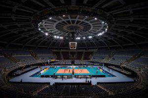 Volley  (Photo credit should read YASUYOSHI CHIBA/AFP/Getty Images)