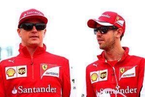 Sebastian Vettel e Kimi Raikkonen (Photo by Mark Thompson/Getty Images)