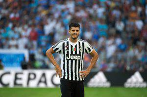 Alvaro Morata (Photo credit should read BERTRAND LANGLOIS/AFP/Getty Images)