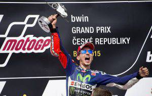 Jorge Lorenzo (Photo credit should read JOE KLAMAR/AFP/Getty Images)