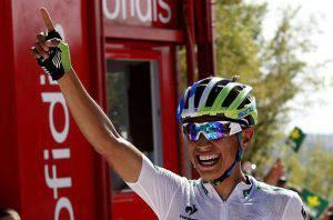Esteban Chaves (Photo credit should read JOSE JORDAN/AFP/Getty Images)