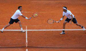 Daniele Bracciali e Potito Starace (Photo by Julian Finney/Getty Images)