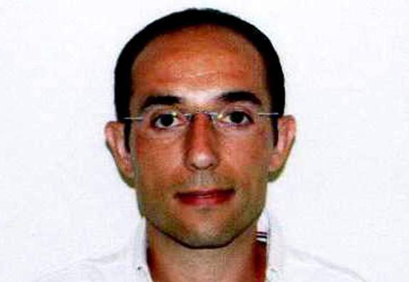 De Stefano dopo l'arresto (foto Polizia di Stato)