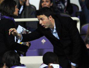 Renzi allo stadio (Giuseppe Bellini/Getty Images)