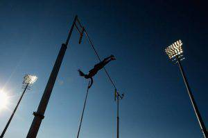 TORONTO, ON - JULY 23:  Yarisley Silva of Cuba competes in the women's pole vault during Day 13 of the Toronto 2015 Pan Am Games on July 23, 2015 in Toronto, Canada. Silva won the gold medal.  (Photo by Ezra Shaw/Getty Images)