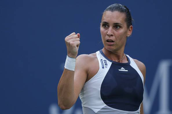 Flavia Pennetta (Photo credit should read KENA BETANCUR/AFP/Getty Images)