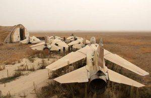 A general view shows former Syrian army MiG-23 fighter jets at the Abu Duhur military airport, the last regime-held military base in northwestern Idlib province, after Al-Qaeda's Syrian affiliate and its allies seized the base on September 9, 2015 in the latest setback for President Bashar al-Assad's forces. Al-Nusra Front and a coalition of mostly Islamist groups captured the military airport after a siege that lasted two years, the Syrian Observatory for Human Rights monitor said. AFP PHOTO / OMAR HAJ KADOUR        (Photo credit should read OMAR HAJ KADOUR/AFP/Getty Images)