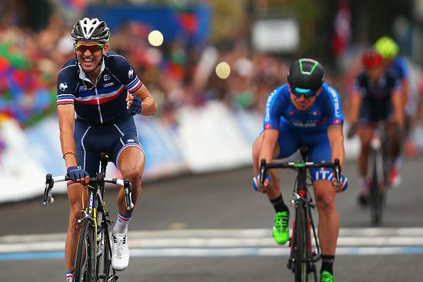 Kevin Ledanois vince la prova in linea Under 23 dei Mondiali di Richmond (Photo by Bryn Lennon/Getty Images)