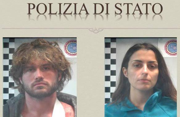 La coppia dell'acido (foto polizia di Stato)