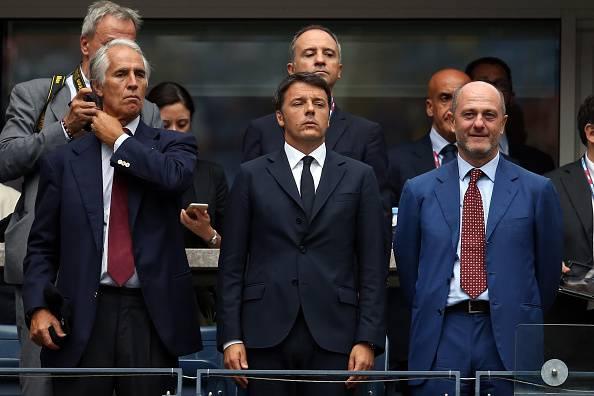 Renzi allo Us Open (Matthew Stockman/Getty Images)