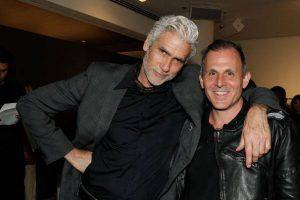 NEW YORK, NY - APRIL 22: Mark Reay and Greg Scaffidi attend the opening night of Dog Dance By Brad Elterman at Milk Studios on April 22, 2014 in New York City.  (Photo by Mireya Acierto/Getty Images)