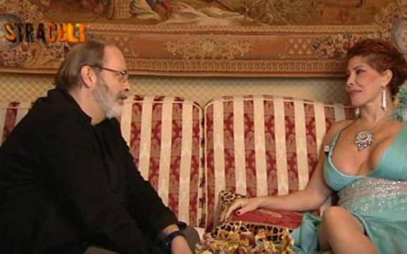 Milly D'Abbraccio ospite in una trasmissione (Youtube)