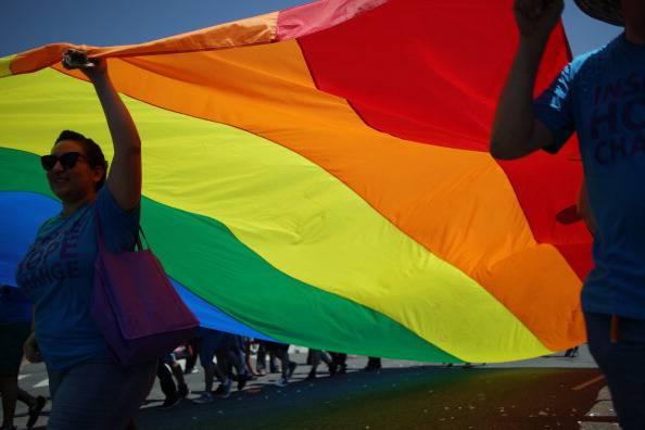 Bandiera dei diritti omosessuali (David McNew/Getty Images)