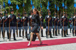 Il ministro Boschi (ANDREAS SOLARO/AFP/Getty Images)