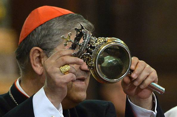 Il cardinale Sepe (ALBERTO PIZZOLI/AFP/Getty Images)