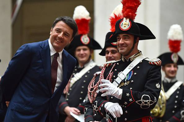 Matteo Renzi ride (GABRIEL BOUYS/AFP/Getty Images)