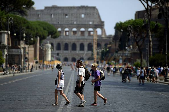 Colosseo e Fori Imperiali (FILIPPO MONTEFORTE/AFP/Getty Images)