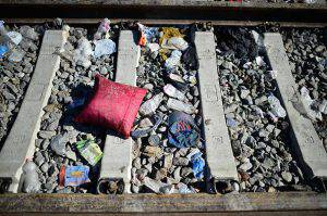TOVARNIK, CROATIA - SEPTEMBER 21:  Rubbish left in Tovarnik railway station as migrant have been moved on north towards Hungary and Austria on September 21, 2105 in Tovarnik,Croatia. Thousands more migrants have been moved on to Hungary and Austria over the weekend as European leaders are set to push for a unified response to the migrant crisis.  (Photo by Jeff J Mitchell/Getty Images)