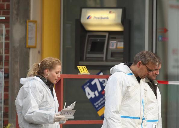 Una rapina in banca (Sean Gallup/Getty Images)