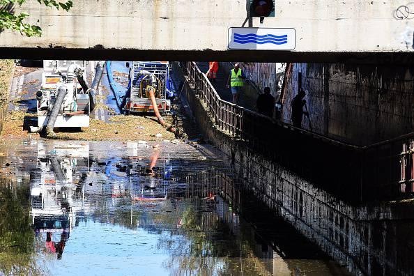 I danni di una recente alluvione (CLAUDIO GIOVANNINI/AFP/Getty Images)