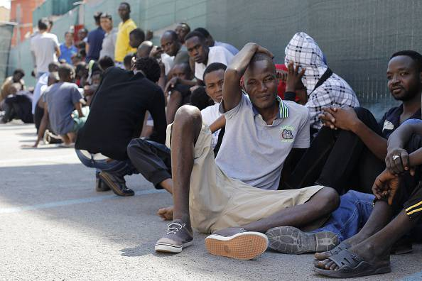 Migranti a Ventimiglia (CHRISTOPHE MAGNENET/AFP/Getty Images)