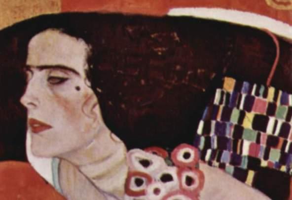 La Giuditta II di Klimt, particolare (foto pubblico dominio)