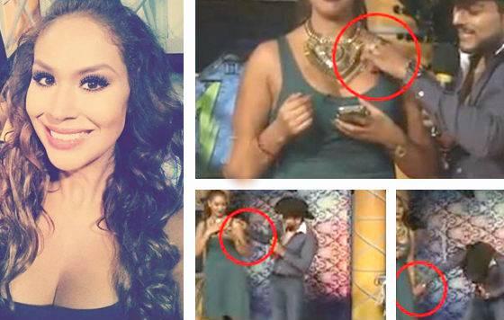 """Conduttrice TV molestata in diretta: """"Smettila di toccarmi il seno""""  -VIDEO"""