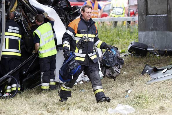 Soccorsi dopo un incidente (NICOLAS MAETERLINCK/AFP/Getty Images)