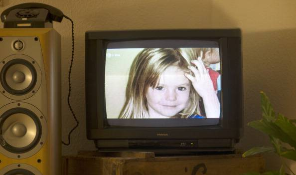 Foto di Maddie in tv (JOHANNES EISELE/AFP/Getty Images)