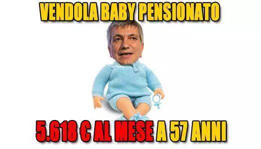 Grillo – Vendola, polemica a distanza sulla 'baby' pensione dell'ex governatore