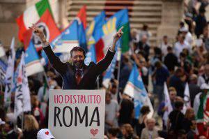 Proteste anti-Marino (FILIPPO MONTEFORTE/AFP/Getty Images)