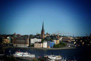STOCKHOLM, SWEDEN - JUNE 07: (EDITORS NOTE: This image was processed using digital filters) An alternative view of the city skyline as preparartions continue before the wedding of Princess Madeleine of Sweden and Christopher O'Neill on June 7, 2013 in Stockholm, Sweden. (Photo by Vittorio Zunino Celotto/Getty Images)